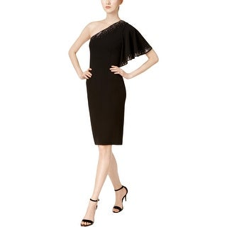 Calvin Klein Womens Petites Cocktail Dress Party One Shoulder