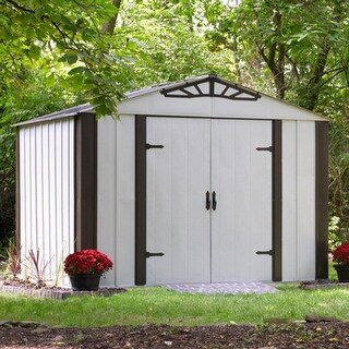 Arrow Designer Hot Dipped Galvanized Steel Shed 10' W x 8' L With swing doors /DS108