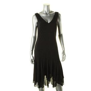Lauren Ralph Lauren Womens Casual Dress V-Neck Swing
