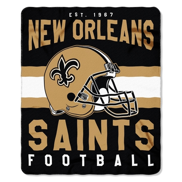 The Northwest Company New Orleans Saints Fleece Throw , Gold. Opens flyout.