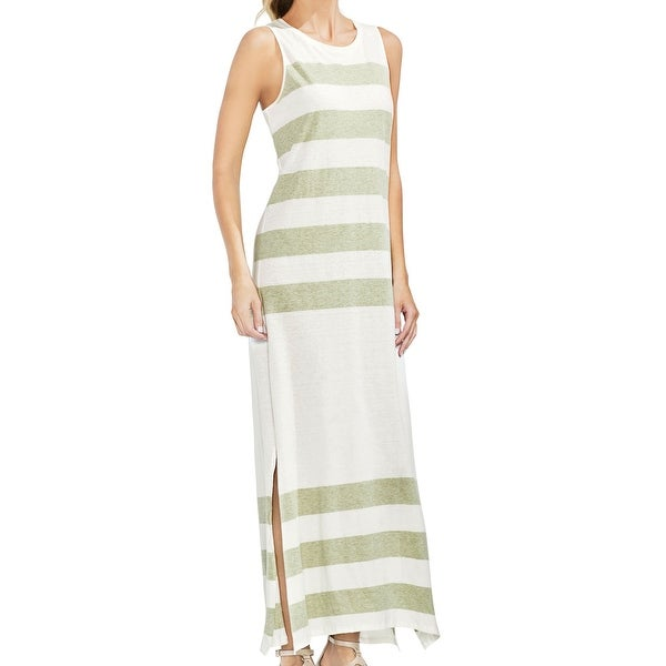 2566859f0c0 Shop Vince Camuto White Women s Size XS Striped Side Slit Maxi Dress - Free  Shipping On Orders Over  45 - Overstock - 28032813