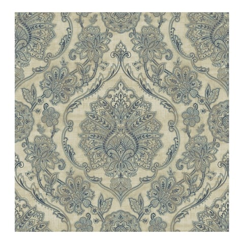 Carnegie Beige Damask Wallpaper - 20.5 x 396 x 0.025