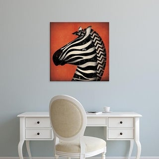 Easy Art Prints Ryan Fowler's 'Zebra Wow' Premium Canvas Art
