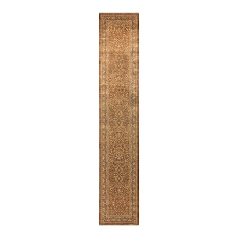 """Mogul, One-of-a-Kind Hand-Knotted Runner - Yellow, 2' 8"""" x 13' 10"""" - 2' 8"""" x 13' 10"""""""