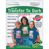 "For Dark Fabrics - Ink Jet Transfer Paper 8.5""X11"" 5/Pkg"