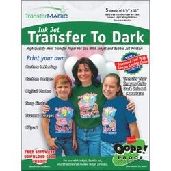 "For Dark Fabrics - Ink Jet Transfer Paper 8.5""X11"" 5/Pkg"