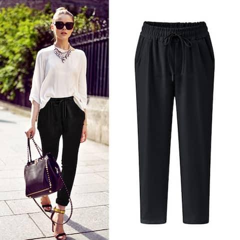 Linen Casual Pants Cotton Pants Thin Section Fat Mm Feet Pants