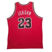 Michael Jordan Autographed Chicago Bulls 1984 Nike Signed Authentic Basketball Red Jersey JSA COA
