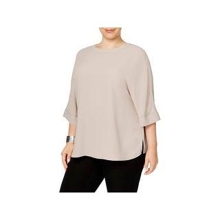 Anne Klein Womens Plus Tunic Top Cuffed Dolman Sleeves - 1x