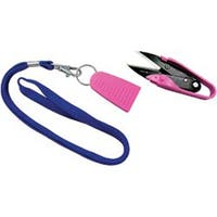 """Dura Snips Squeeze-Style Thread Snips 4-3/4""""-Pink & Black"""