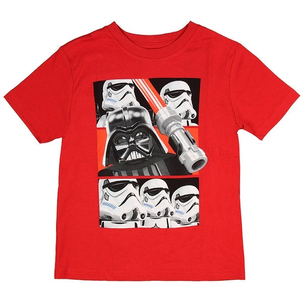 49fe39686 Shop Lego Star Wars Boys' Darth Vader Lightsaber Stormtrooper Movie  Character T-Shirt - On Sale - Free Shipping On Orders Over $45 - Overstock  - 18536321