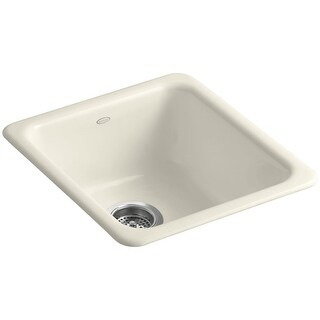 "Kohler K-6584 Iron Tones 17"" Single Basin Top-Mount/Under-Mount Enameled Cast-Iron Kitchen Sink"
