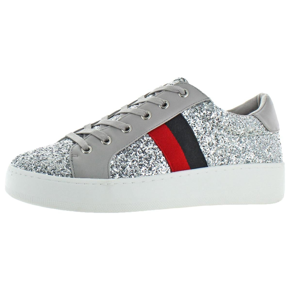 0b05bee81cd Shop Steve Madden Womens Belle Fashion Sneakers Faux Leather Low Top - Free  Shipping Today - Overstock - 26639362