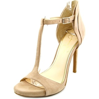 Jessica Simpson Rayanna Women Open Toe Suede Tan Sandals