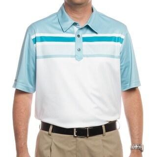 Ashworth Men's PGA Championship Tournament Polo White/Seaglass/Enamel Z79796 (X-Large)