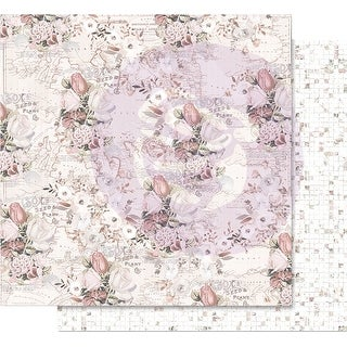 "Lavender Frost Foiled Double-Sided Cardstock 12""X12""-The Road To You"