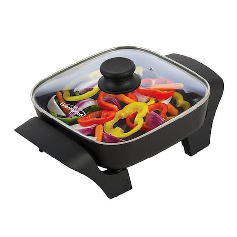 Brentwood SK-46 8-Inch Non-Stick Electric Skillet with Glass Lid
