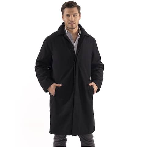 Alpine Swiss Zach Mens Overcoat Wool Trench Coat Knee Length