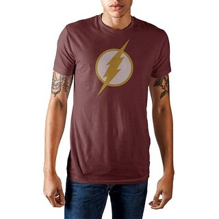 DC Comics The Flash Lightning Bolt Logo Men's T-shirt