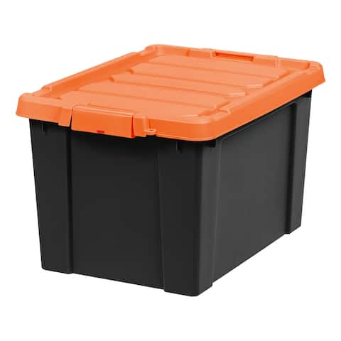 IRIS 19 Gal. Store-It-All Storage Tote in Black