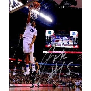 Jahlil Okafor Signed Duke Final Four Slam Dunk vs Michigan State 8x10 Photo