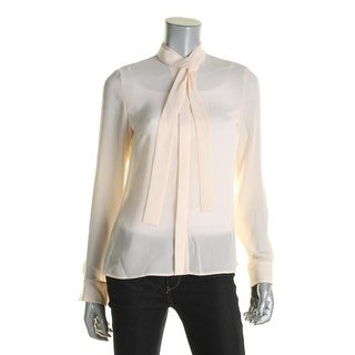 BOSS Hugo Boss Womens Banika Blouse Tie-Neck Button-Up