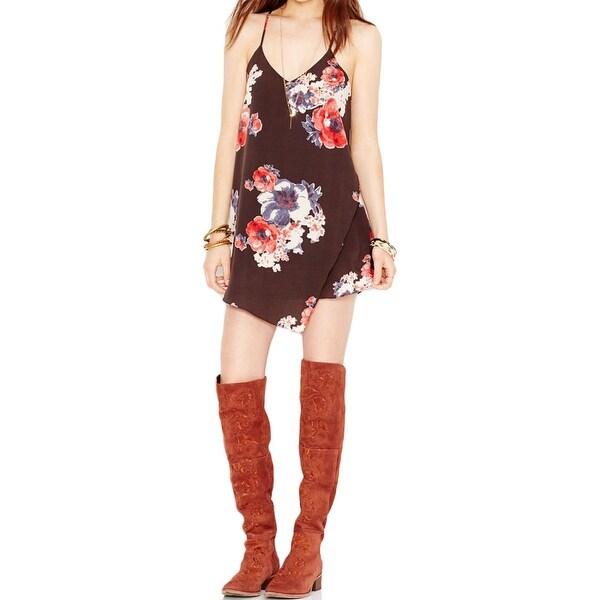 Free People Womens Slip Dress Chiffon Floral Print