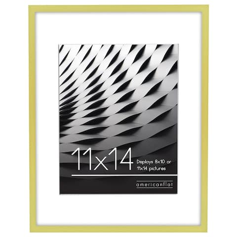 """Americanflat Thin Picture Frame in Gold Wood -11"""" x 14"""""""