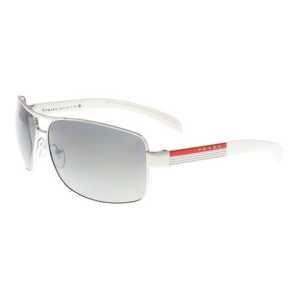 Prada Linea Rossa PS 54IS 1BC3M1 Silver Rectangle Sunglasses - 65-14-125 593aaae57257c