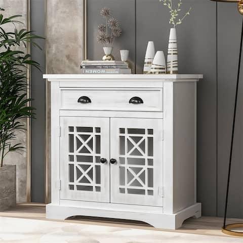 Harper & Bright Designs Retro Storage Cabinet Chest with 1 Drawer