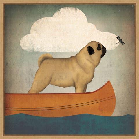 Pug Canoe Co by Ryan Fowler Framed Canvas Art