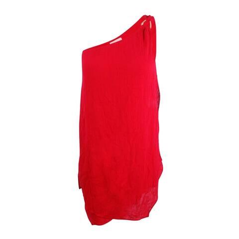 MICHAEL Michael Kors Women's Gauze One-Shoulder Layered Cover-Up