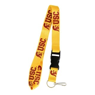 USC Trojans Souther California Lanyard Keychain Badge Holder NCAA - Gold