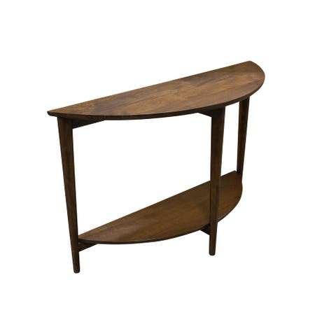 Porter Designs Baja Solid Mango Wood Console Table, Brown