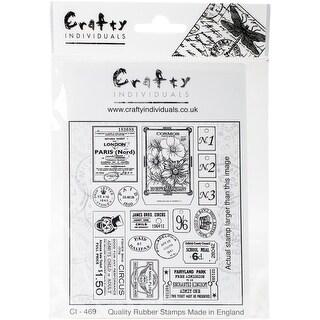 "Crafty Individuals Unmounted Rubber Stamp 3.75""X5.5"" Pkg-More Vintage Ephemera"
