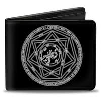 Supernatural Devil's Trap Pentagram Black White Bi Fold Wallet - One Size Fits most