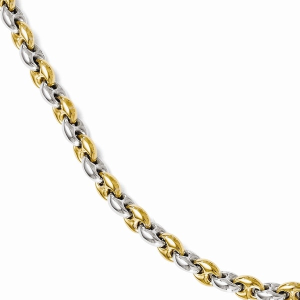 Italian Sterling Silver Gold-tone 18k Flash Plated Link Bracelet - 7 inches