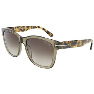 Tom Ford FT0395/S 34K Cooper Clear Olive Wayfarer Sunglasses