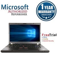 "Refurbished Lenovo ThinkPad W520 15.6"" Intel Core i7-2720QM 2.2GHz 8GB DDR3 240GB SSD DVD Win 10 Pro 64 (1 Year Warranty)"