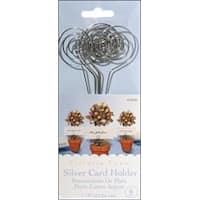 """Silver - Wire Card Holders 6"""" 6/Pkg"""