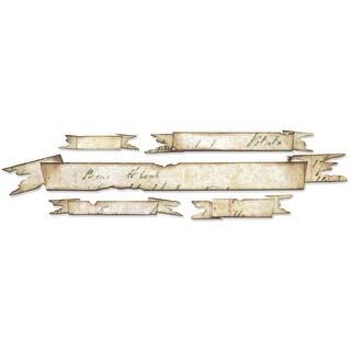 "Sizzix Sizzlits Decorative Strip Die By Tim Holtz-Tattered Banners 12.625""X2.375"""