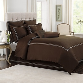 Wamsutta® Baratta Stitch Full/Queen Comforter Set in Chocolate