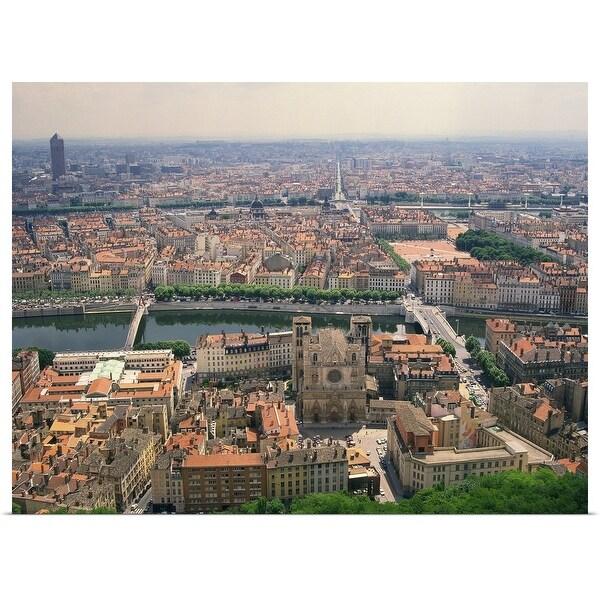 """""""Lyon cityscape, Lyon, France"""" Poster Print"""