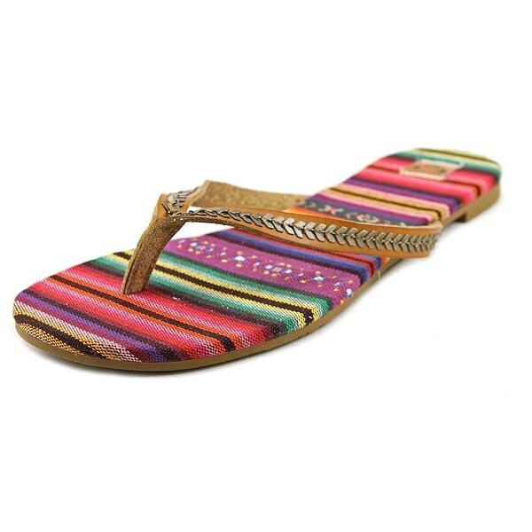 Roxy Tangier Women Open Toe Synthetic Brown Flip Flop Sandal