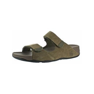 Fitflop Mens Gogh Slide Sandals Adjustable Leather