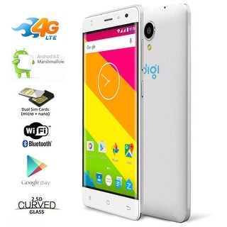 "Indigi GSM UNLOCKED 4G LTE Smart Phone Android 6.0 Dual-Sim Quad-Core Dual-Cam 5.0"" LCD - White"