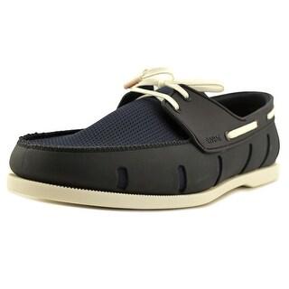 Swims Boat Loafer Men Moc Toe Synthetic Blue Boat Shoe