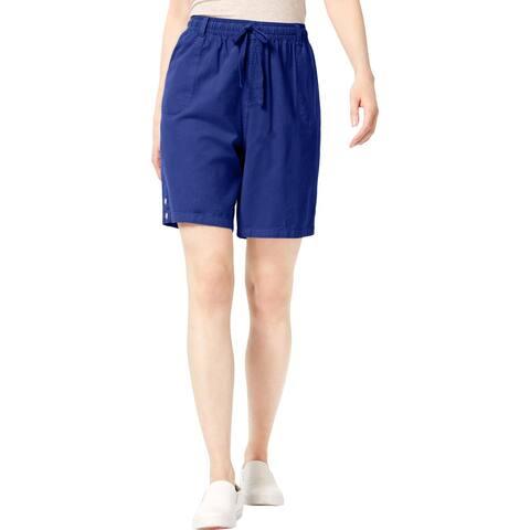 Karen Scott Womens Lisa Casual Shorts Cotton Comfort Waist