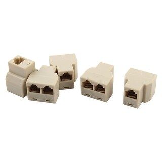 RJ45 3 Way Female 8P8C Network Modular LAN Ethernet Connector Splitter 5 Pcs