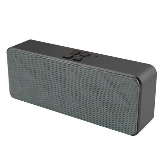 Portable Bluetooth Hi-Fi Stereo Speaker with Built-in Microphone and Speakerphone & AUX Input (Grey)